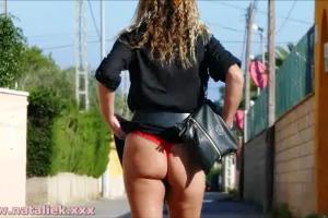 Natalie K outdoors public flashing & masturbation