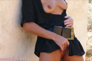 Natalie public flashing & outdoor masturbation