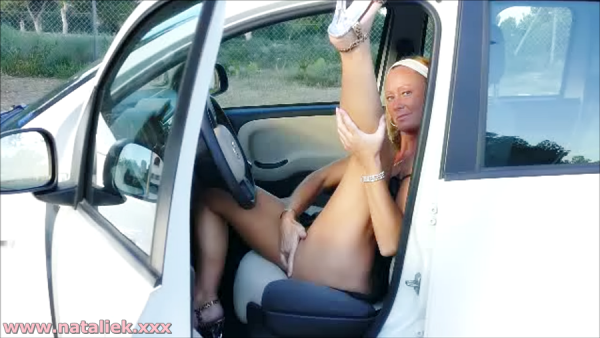pedal pumping & outdoor masturbation with Natalie K