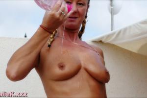 NatalieK british pornstar body oil