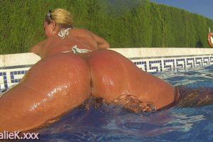 NatalieK xxx hotwife pornstar adult public swimming pool